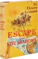 Elmore Leonard, author of Escape from Five Shadows