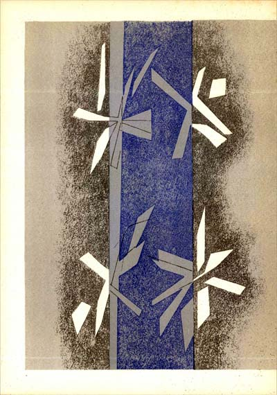 Composition by Andre Beaudin, unsigned, printed in 1964