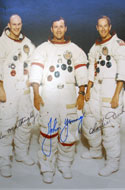 John W. Young, landed April 21-23, 1972 � signed group photo