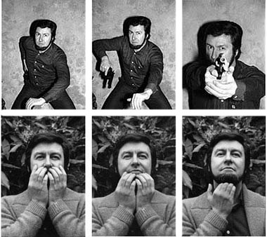 Photographs of French criminal Jacques Mesrine