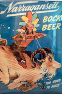 Original Poster for Narragansett Bock Beer by Dr. Seuss