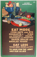 Eat More Corn, Oats and Rye... WWI Poster