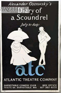 "Atlantic Theater Company's production of Alexander Ostrovsky's ""Diary of a Scoundrel."" Signed and numbered by Edward Gorey"