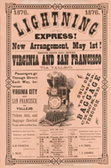 Lightning Express! 1876 Train Poster