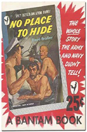 No Place to Hide: Original poster for the Bantam Paperback