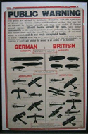 Public Warning of German and British Airships