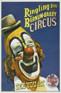 1960s Ringling Brothers Circus Poster