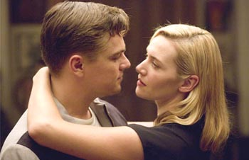 Leonardo and Kate Winslet in Revolutionary Road by Richard Yates