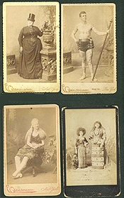 Circus freakshow and dime museum cabinet cards
