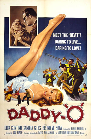 1958 poster from the B-movie Daddy-O starring Dick Contino