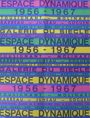 1967 poster and press release promoting a gallery opening in Montreal