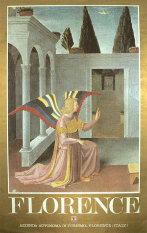Attractive poster featuring a detail from the Annunciation by Fra Angelico