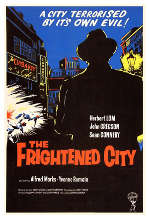 1961 poster promoting The Frightened City, an independent British thriller