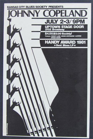 Johnny Copeland, Original Vintage Concert 1981 Poster, Uptown Stage Door,Kansas City