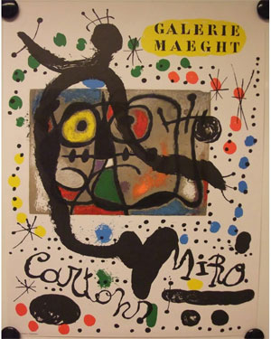 Produced for Miró's exhibition Aug-Oct 1966 at the National Museum of Modern Art in Tokyo