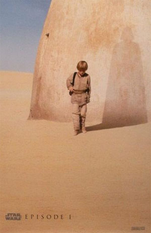 Promotional poster for the Star Wars prequel, Episode 1