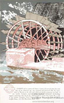 Waterwheel at Merton Industrial Archaeology by Richard Bawden, 1969