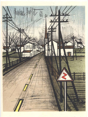 The Road to the village by Bernard Buffet