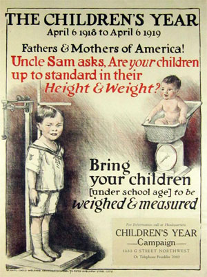 Uncle Sam asks, are your children up to standard, 1918