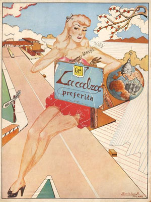 Vintage poster from Milan, illustrated by R. Bortolan