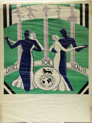 1920s poster promoting Dance for Health, Imperial Society of Teachers of Dancing