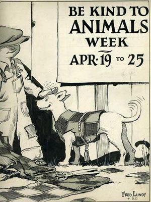 Be Kind to Animals Week poster from 1940