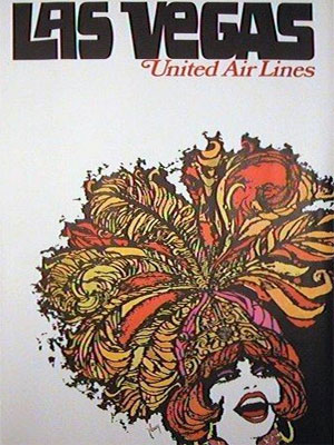 1967 United Airlines poster promoting Las Vegas