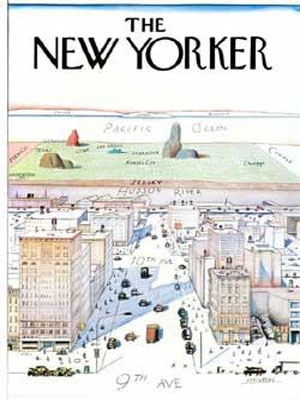 From The New Yorker - View of the World from 9th Ave 1976