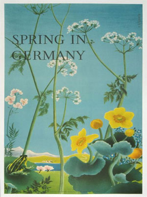 Spring in Germany poster from 1930