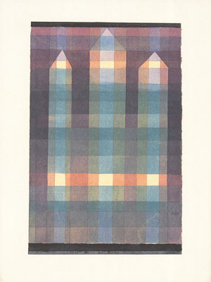Paul Klee Three Towers Poster