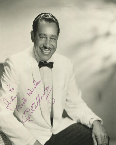 A lovely photograph of the gifted bandleader, signer and actor, Cab Calloway. Photo taken by James J. Kriegsmann in New York City.