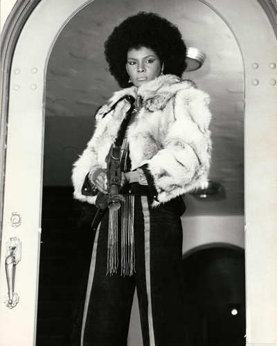 Photograph of Tamara Dobson who starred in Cleopatra Jones (1973) as a United States special agent.