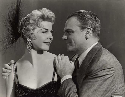 Still photo of Doris Day and James Cagney from the 1955 film Love Me Or Leave Me