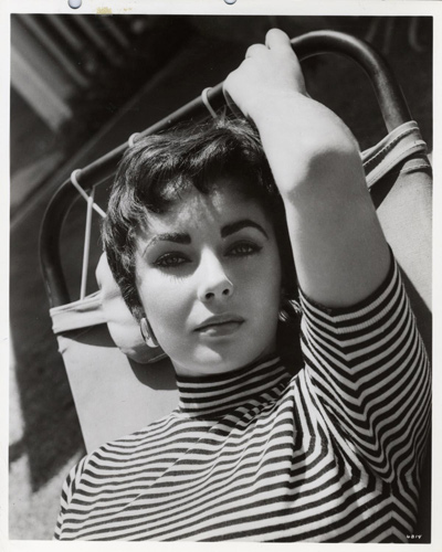 Glossy Black And White Photograph Of A 22 Year Old Elizabeth Taylor Taken During Her Most