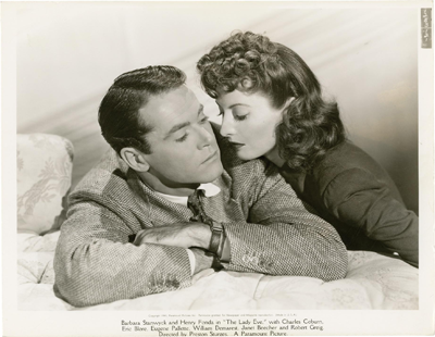 Barbara Stanwyck and Henry Fonda in the 1941 film The Lady Eve