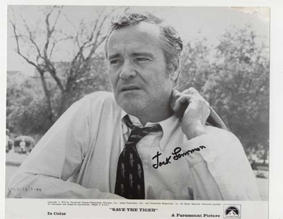 Signed photo of Jack Lemmon for film Save the Tiger from 1972