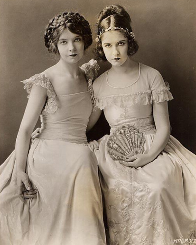 A beautiful rare original 8 x 10 publicity portrait of Lillian & Dorthy Gish used for publicity for their 1924 film Romola which was directed by Henry King.