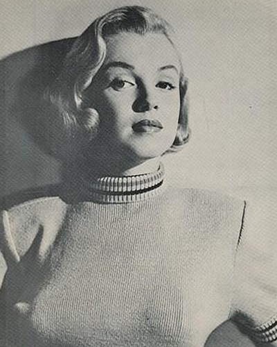 1951 photo of Marilyn Monroe from the film Home Town Story.