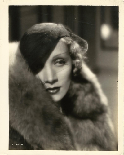 Portrait of Marlene Dietrich from the 1932 film The Blonde Venus.