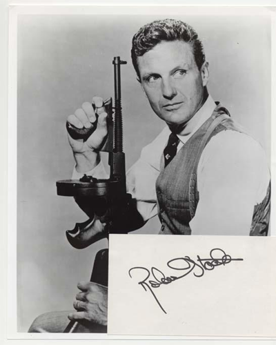 Photo of actor Robert Stack who starred in the popular TV show The Untouchables