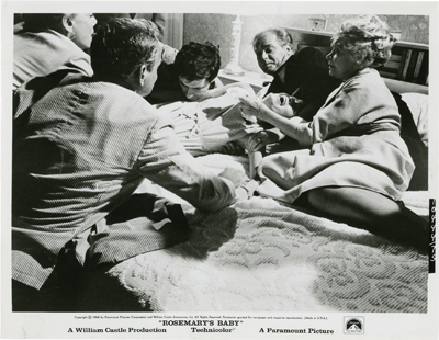 One of 74 photographs from the set of Rosemary's Baby filmed in 1968.