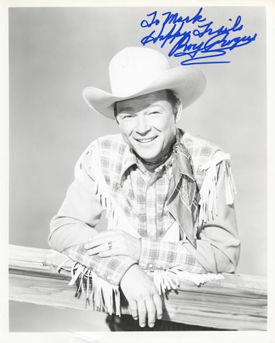 Signed photo of Roy Rogers from the 1940s