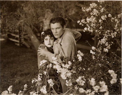 A still from The Godless Girl starring Lina Basquette with George Duryea - from 1928.