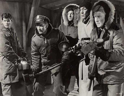 Photo stills from the classic and some would say the best sci-fi film of the 50's The Thing.