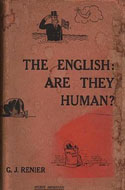 G.J. Renier - The English: Are They Human?