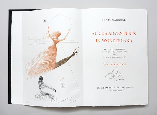 Image of Alice's Adventures in Wonderland, illustrated by Salvador Dali