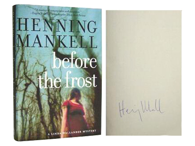 Signed copy of Before the Frost by Henning Mankell