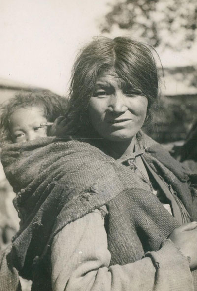 A Lepcha woman and child, circa 1949.