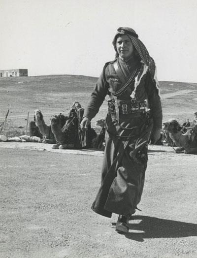 A female soldier in Jordan, circa 1960.