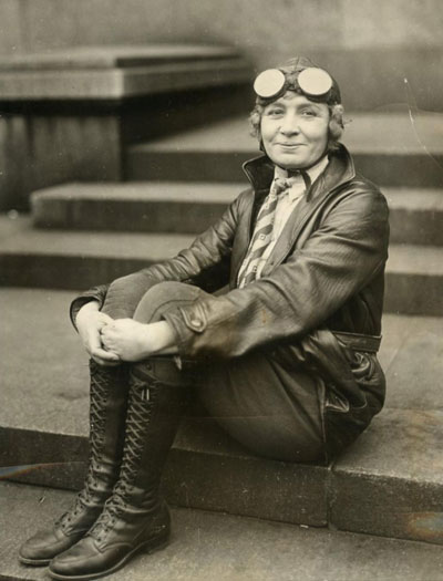 Miss Lillian Ward, one of the earliest female plane pilots in 1930.
